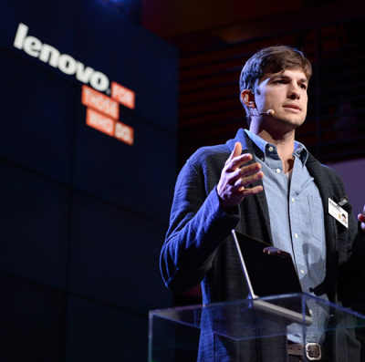 Lenovo e Ashton Kutcher, una partnership interessante